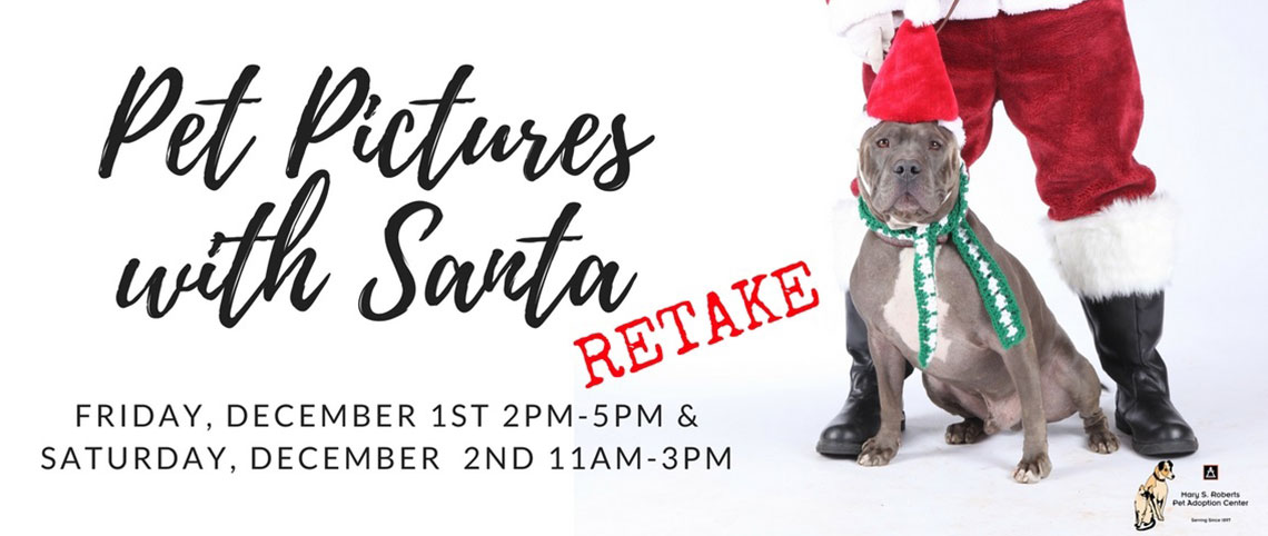 Pet Pictures Santa Retake